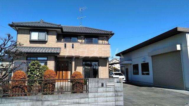 菖蒲町倉庫付き貸家外観写真
