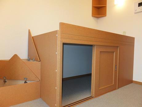 レオパレスmomo 205号室の収納