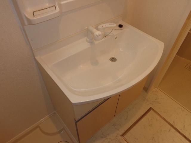 ベース新田南 00102号室の洗面所