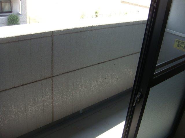 フォレスト粕川 C棟 206号室のバルコニー