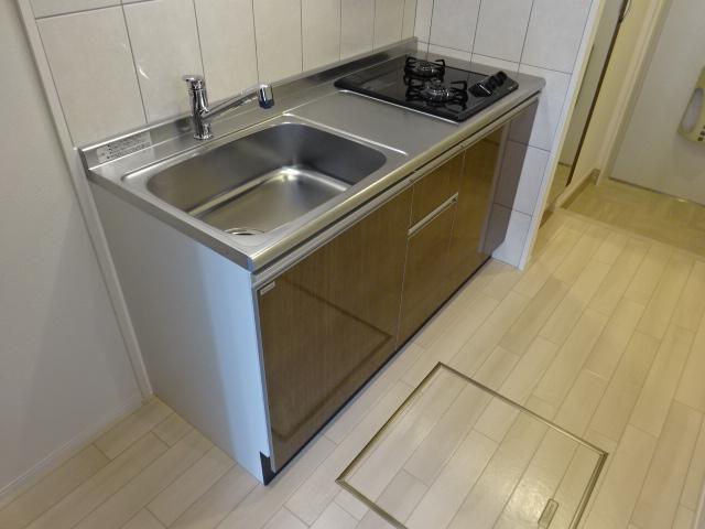 アリュール 106号室のキッチン