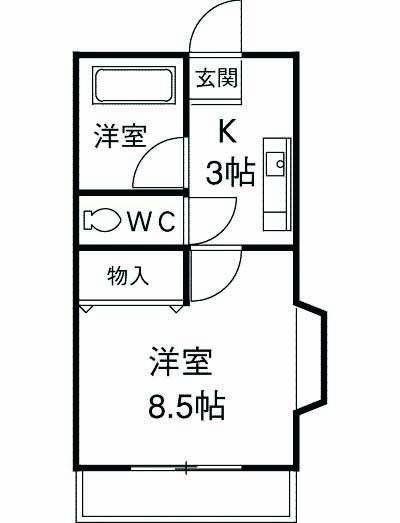 第5田畑ハイツ 303号室の間取り