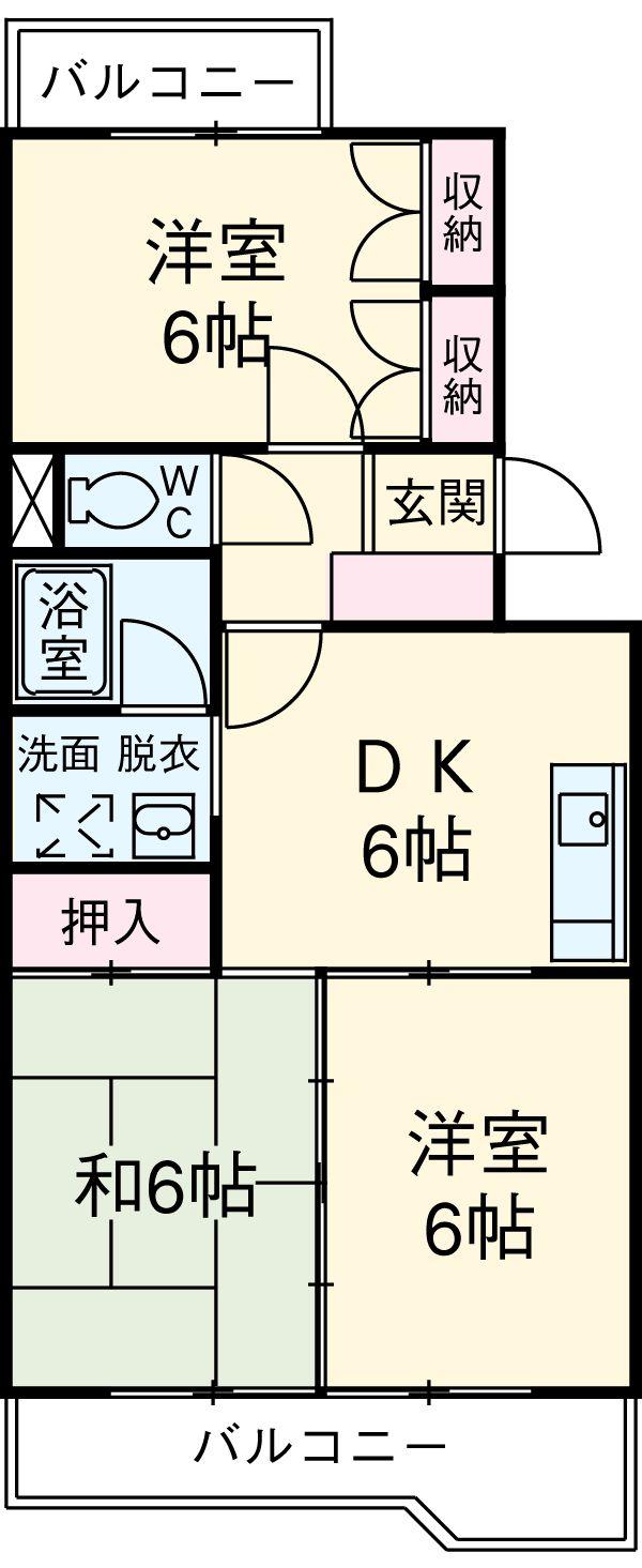 コトブキマンション 104号室の間取り