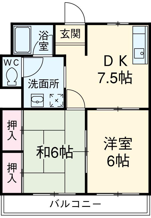 小川第一ビル 201号室の間取り