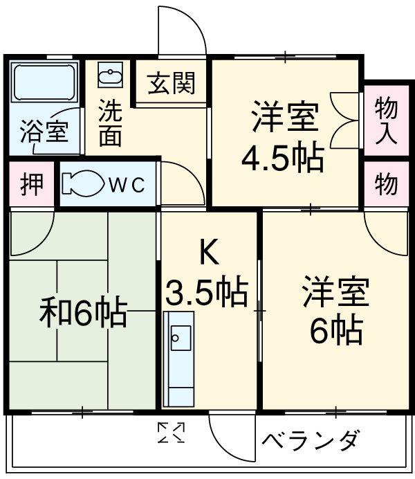 小川第2マンション 301号室の間取り