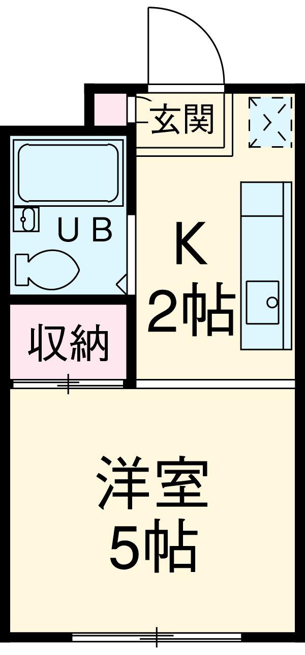 寺山マンション 303号室の間取り