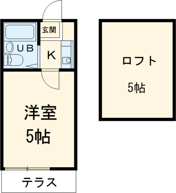 第8小野ハイム 103号室の間取り