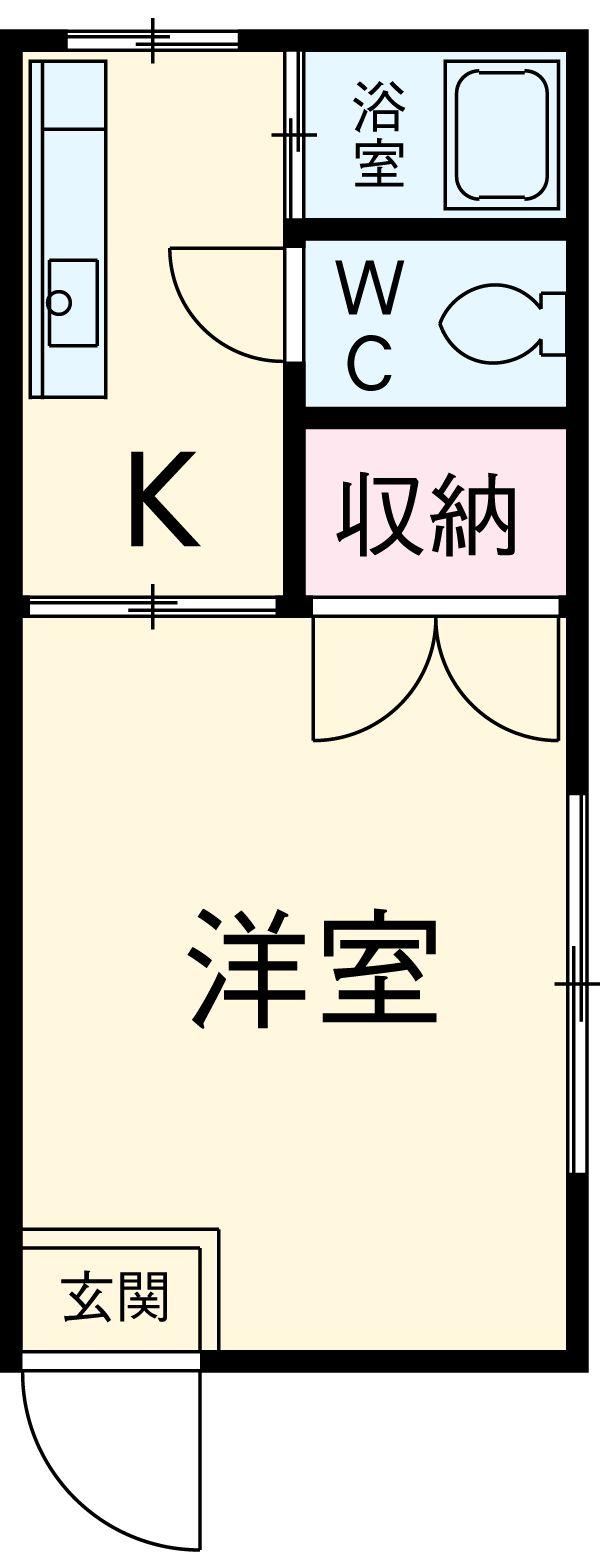 アビタシオン生田第2 103号室の間取り
