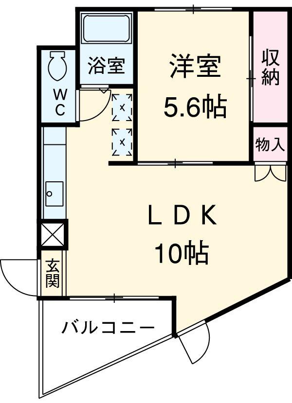 トーレタケダ 205号室の間取り