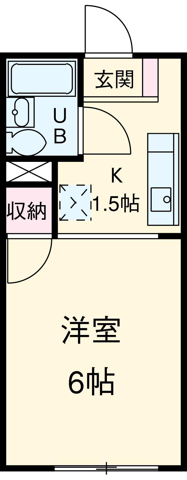 シングルス大岡山 104号室の間取り