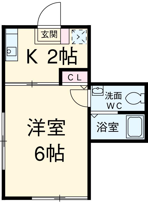タウンハウス大岡山 102号室の間取り