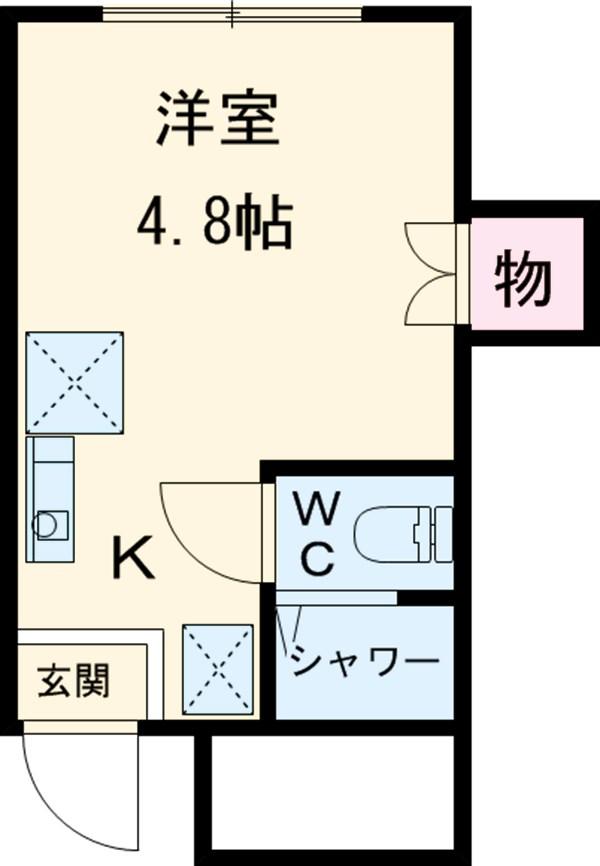 ビュー大岡山 103号室の間取り