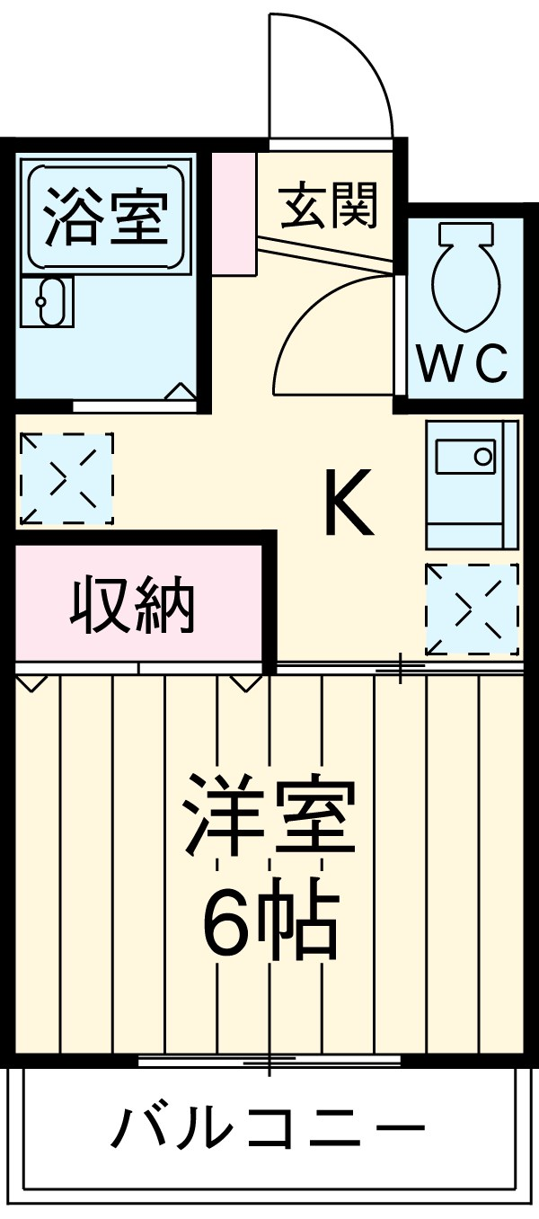 エクセルコート大岡山 205号室の間取り