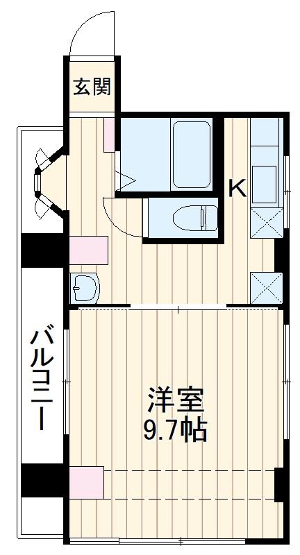 NSビル 3A号室の間取り