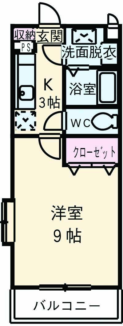 マンションアルティア Ⅱ 302号室の間取り