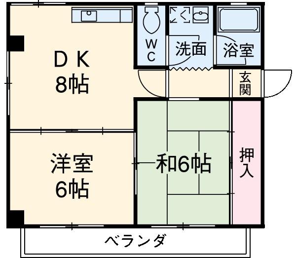 BMマンション 302号室の間取り