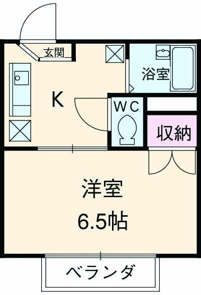 パークサイド駒沢 B-203号室の間取り