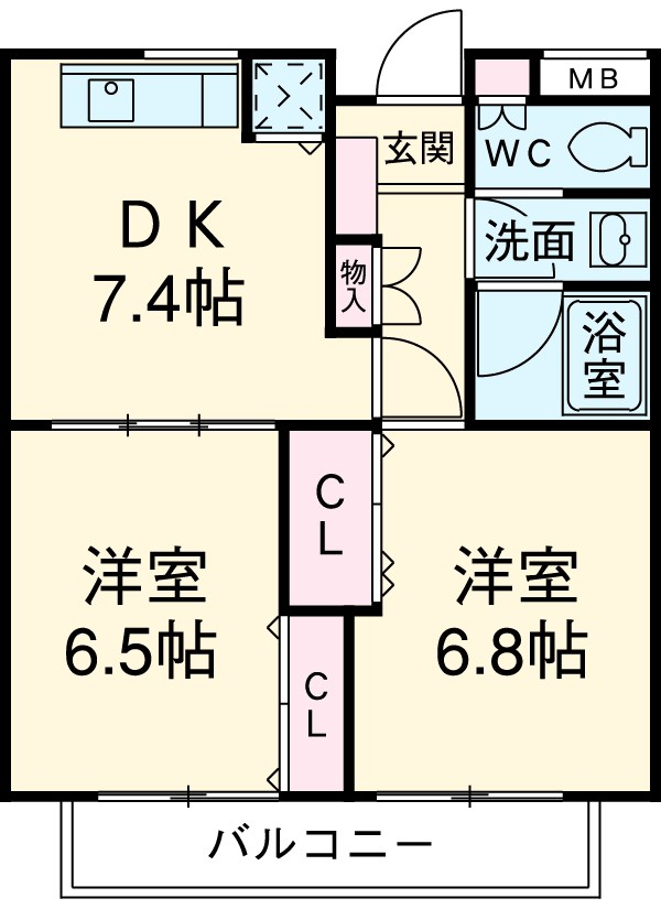 SOCIETY 柿の木坂 WEST STAGE 102号室の間取り