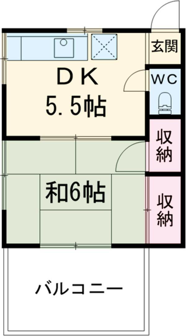 渡辺アパート 201号室の間取り
