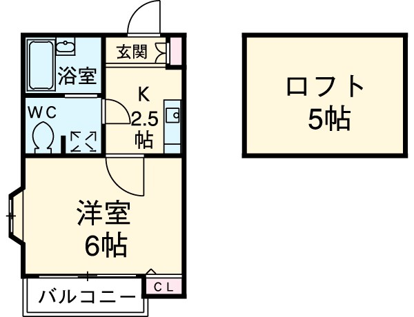 ピュア箱崎東七番館 101号室の間取り