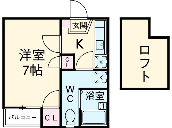 ベネフィスタウン箱崎東2 201号室の間取り