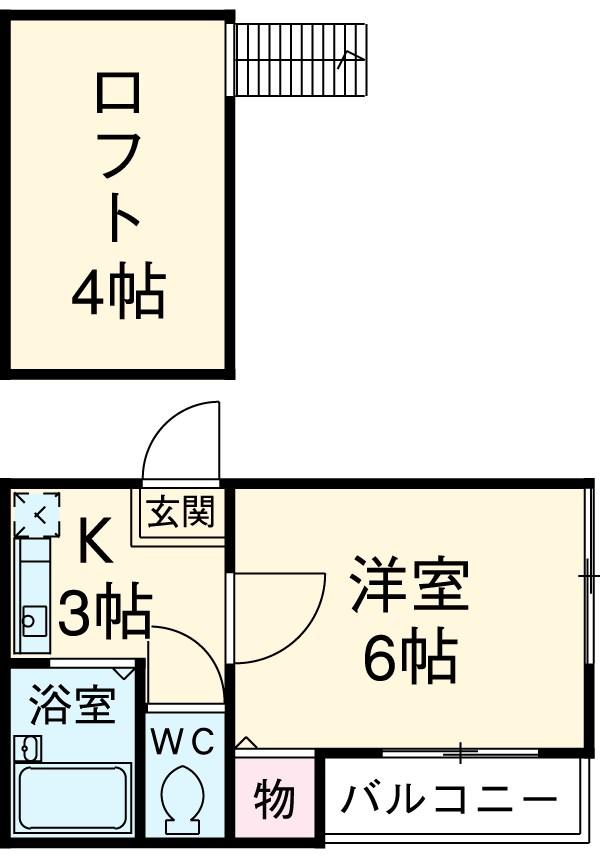Urban Y.M Ⅱ 105号室の間取り