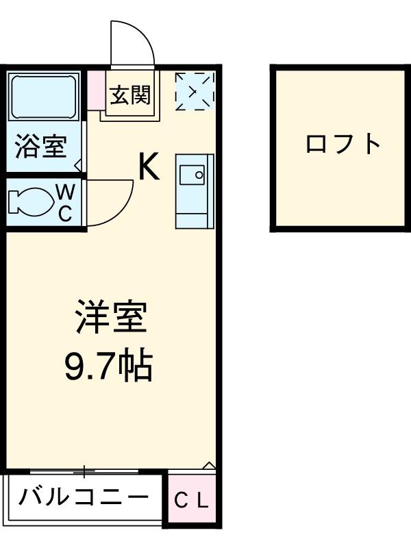 サンリバー箱崎駅南 201号室の間取り