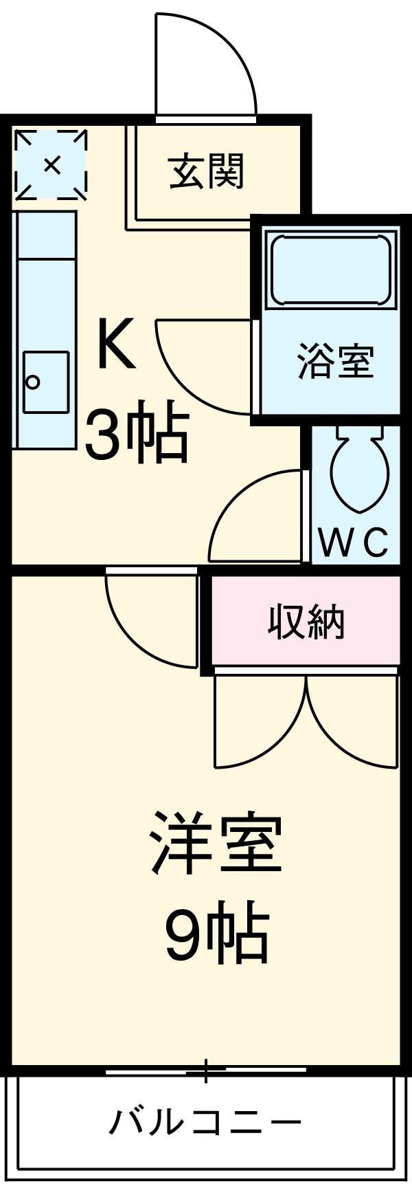 オズハウス1 136号室の間取り