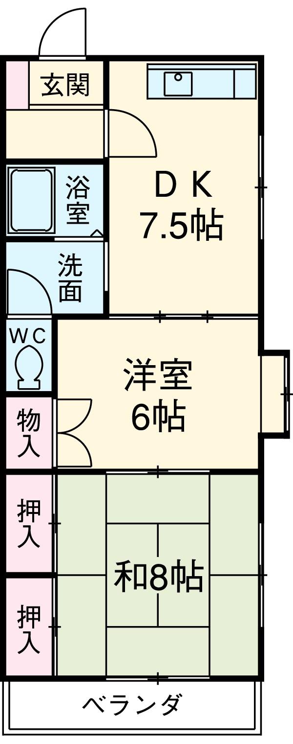 MIKASAⅡ 102号室の間取り