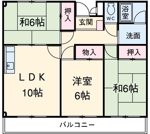 ライムリゾート八坂Ⅰ 202号室の間取り