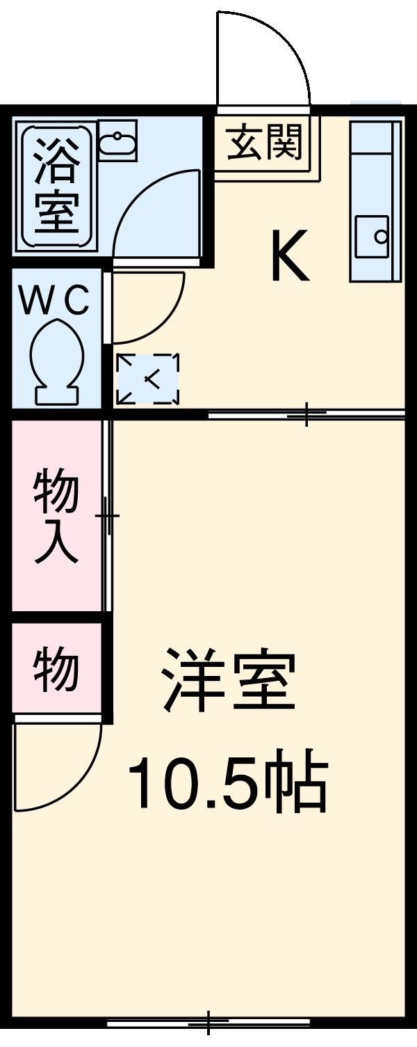 シャトーヨコタ 107号室の間取り