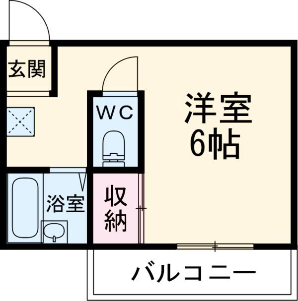 シャンブル桜 203号室の間取り