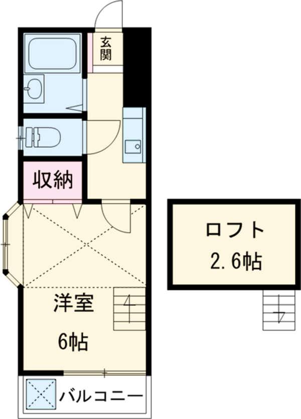 ハイツKIKUCHI 201号室の間取り