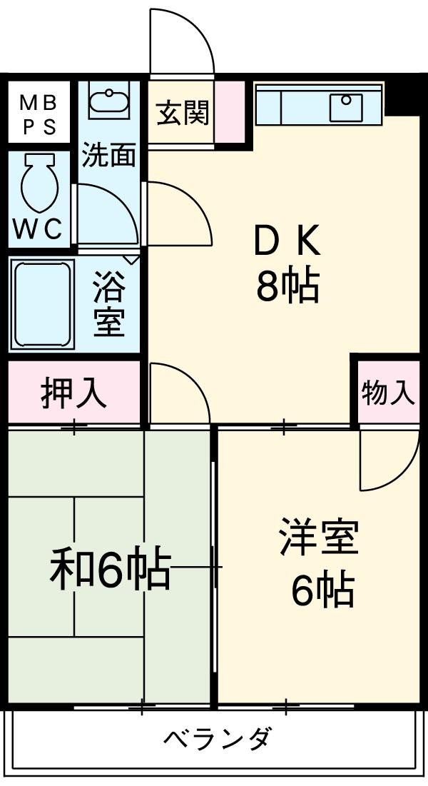 野澤コーポ 306号室の間取り
