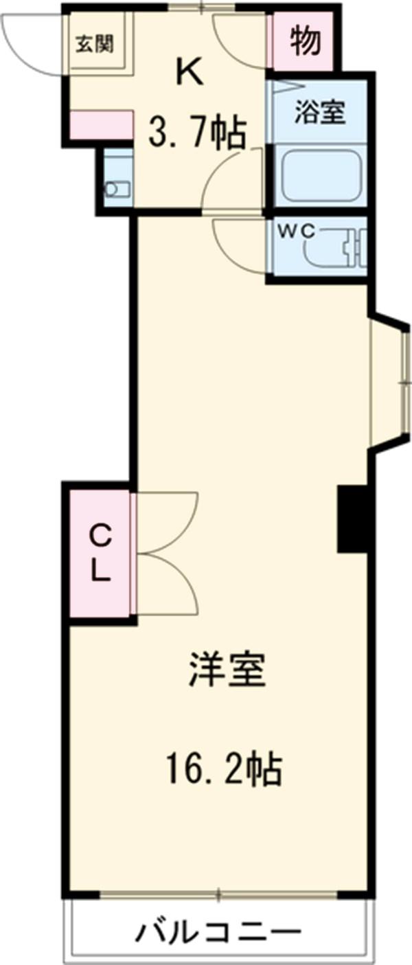 稲葉ビル 3-D号室の間取り