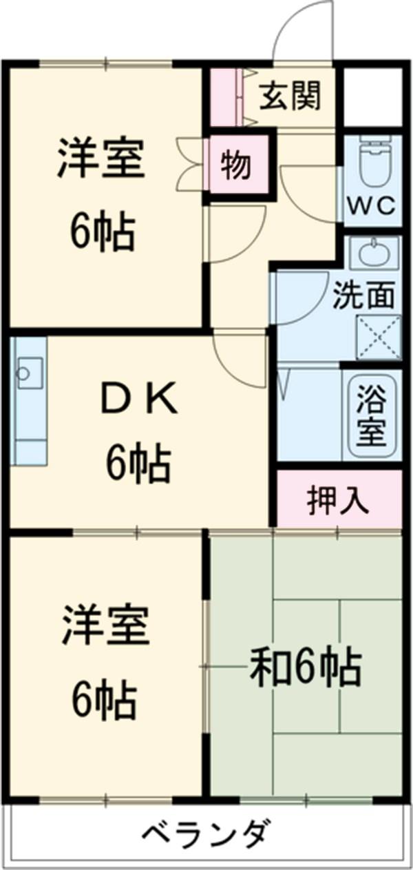 原第7マンション 207号室の間取り