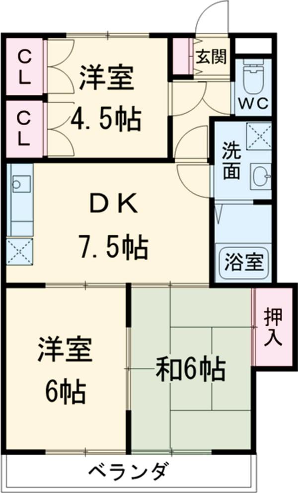 原第10マンション 301号室の間取り