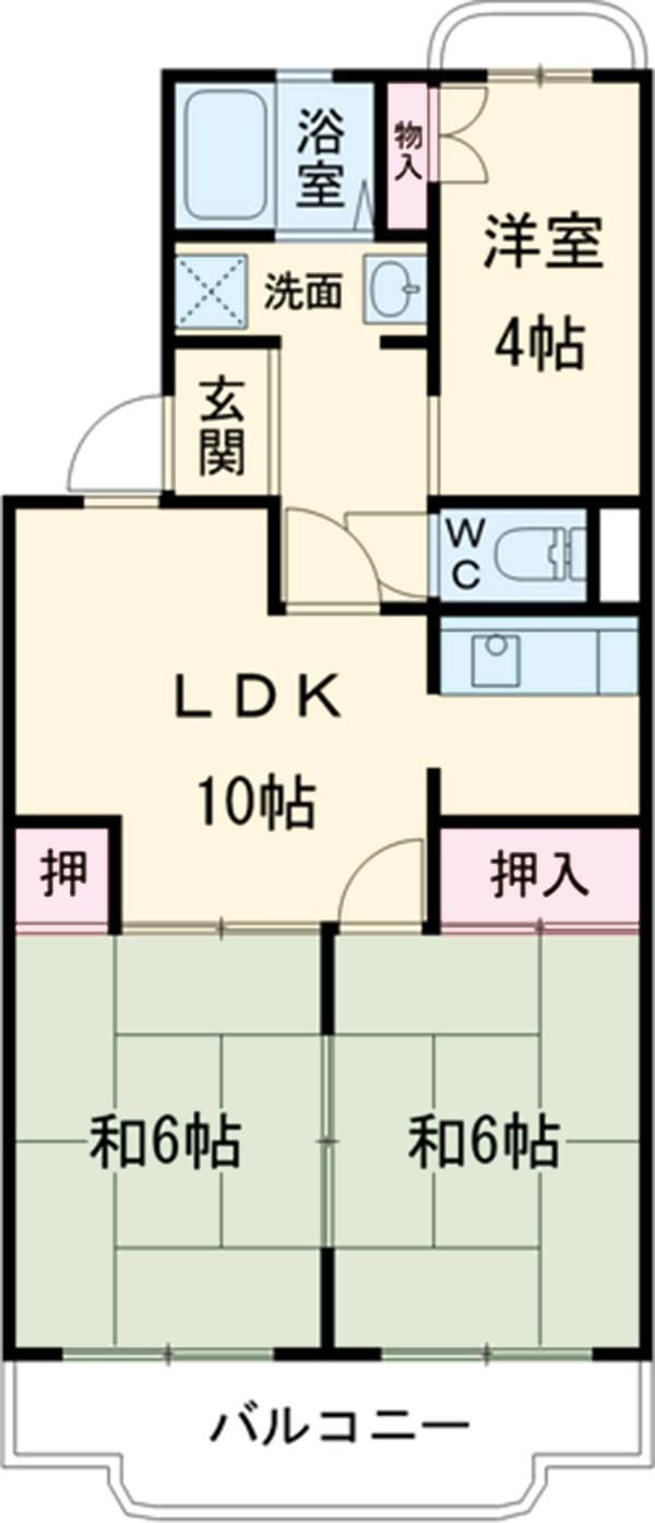 ローレルマンション新堀 301号室の間取り