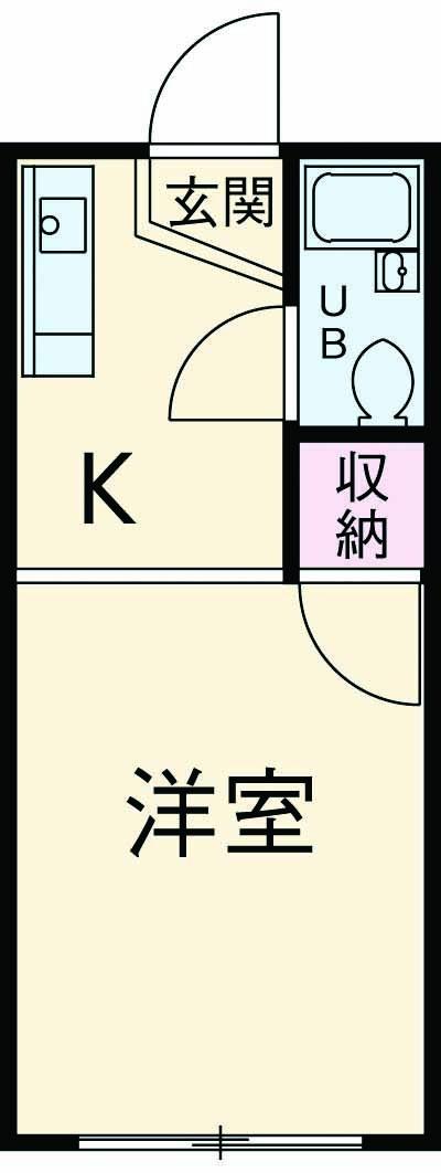 メゾン菅生 102号室の間取り