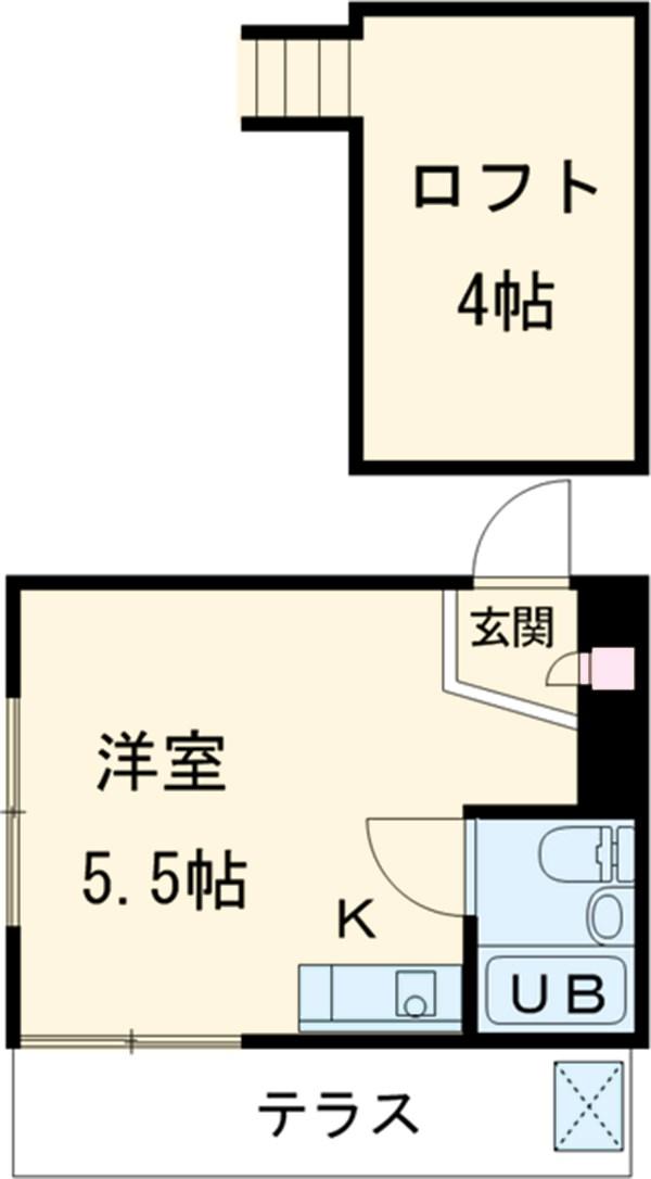 ドールハウス B101号室の間取り