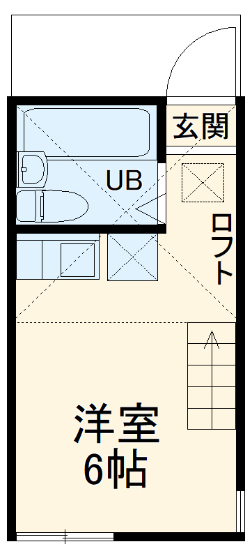 ユナイト新川崎フィルミーノの杜 207号室の間取り