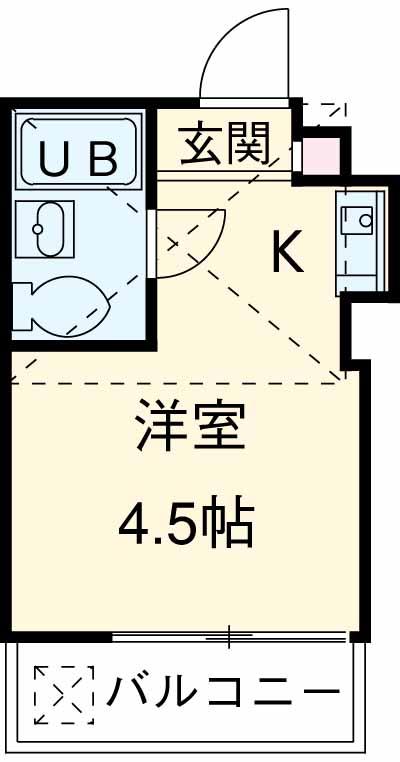 サンライズ武蔵野 203号室の間取り