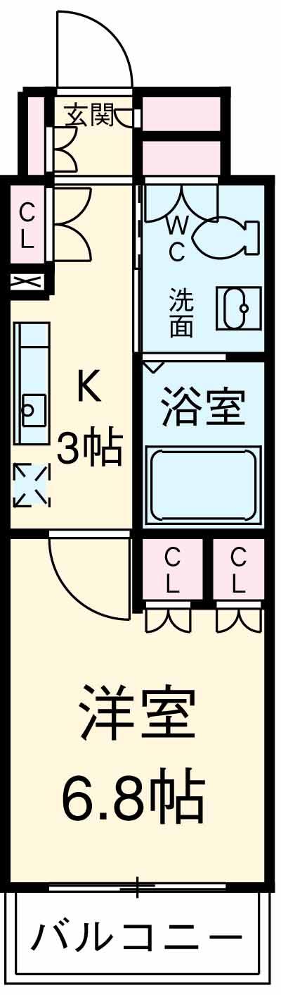 カスタリア武蔵小杉 211号室の間取り