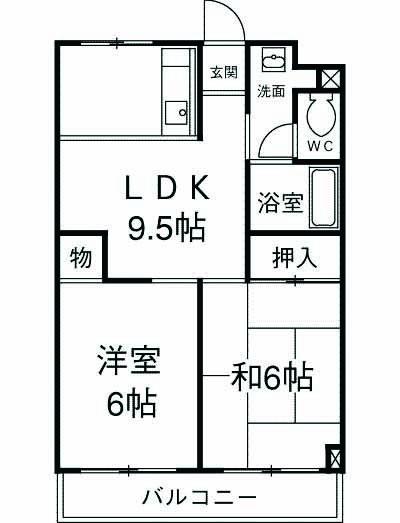 第5昭栄マンション 401号室の間取り