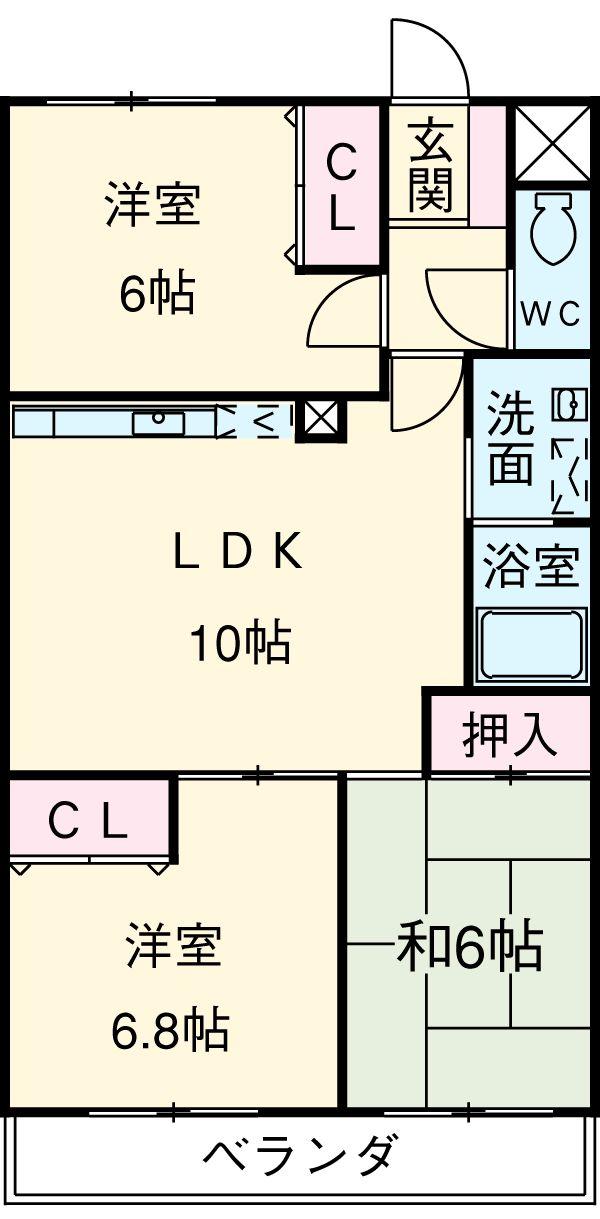 カーネスマンション 301号室の間取り