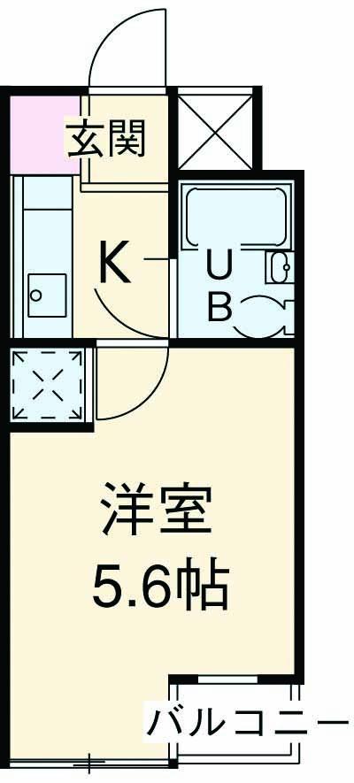 東玉川ハウス 401号室の間取り