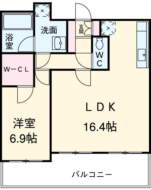 アーデン駒沢パークフロント 102号室の間取り