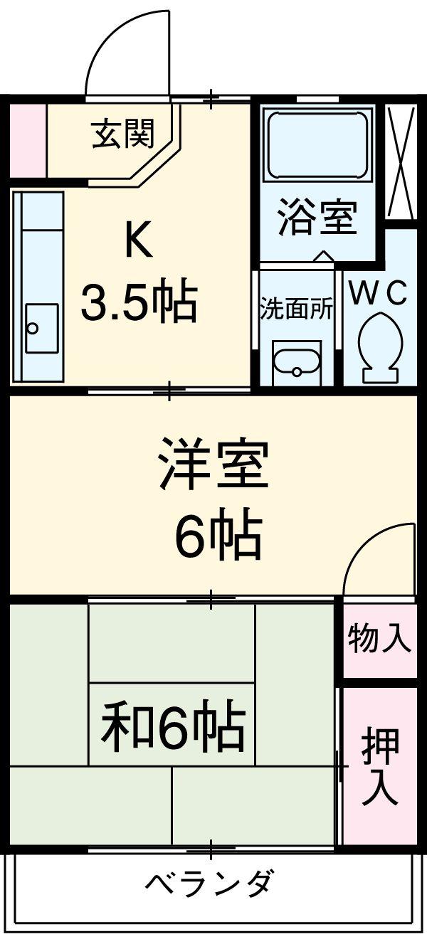 ハウス大岡山 105号室の間取り