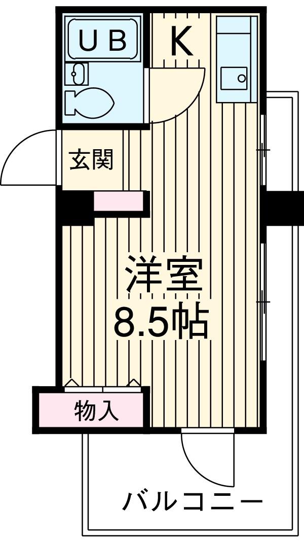 ライオンズマンション上野毛第2 602号室の間取り