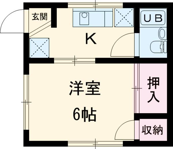 竹澤アパート 101号室の間取り